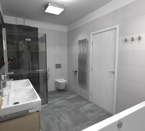 Cravt koupelny Tábor - pohled 1