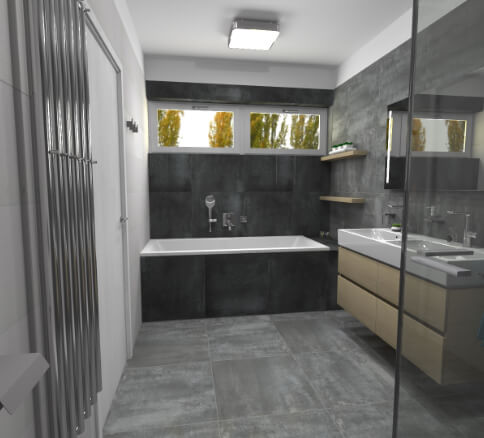 Cravt koupelny Tábor - pohled 2