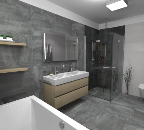 Cravt koupelny Tábor - pohled 3