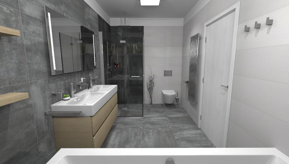 3D grafické návrhy koupelen od Cravt koupelny Tábor