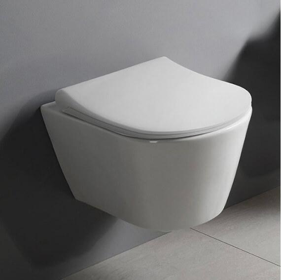 AVVA závěsná WC mísa, Rimless, 35,5x53 cm, bílá od Cravt koupelny Tábor
