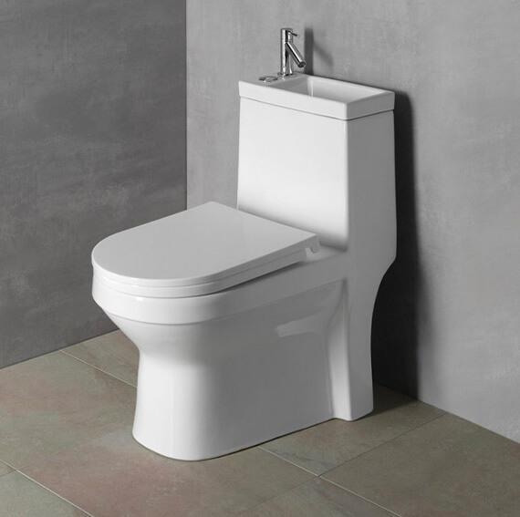 HYGIE WC kombi s umývátkem, včetně PP sedátka, zadní/spodní odpad od Cravt koupelny Tábor
